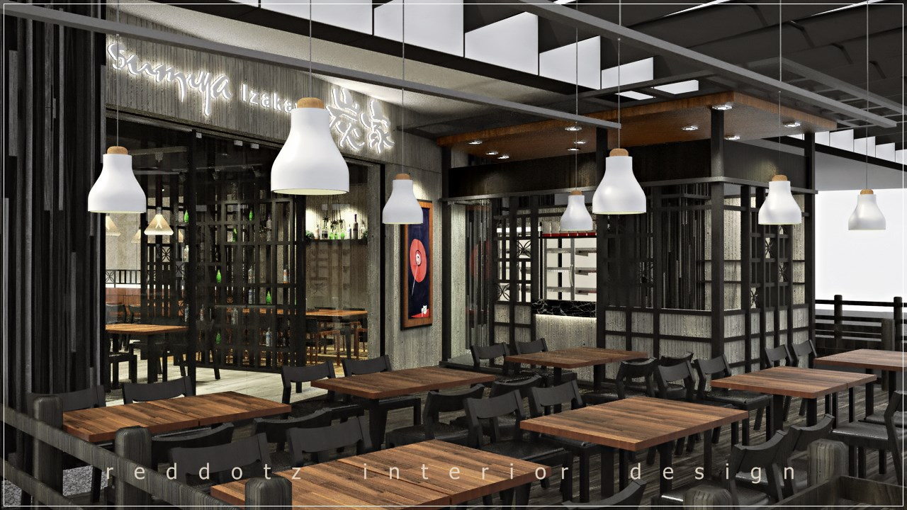 Japanese Restaurant Front Entrance Design Malaysia