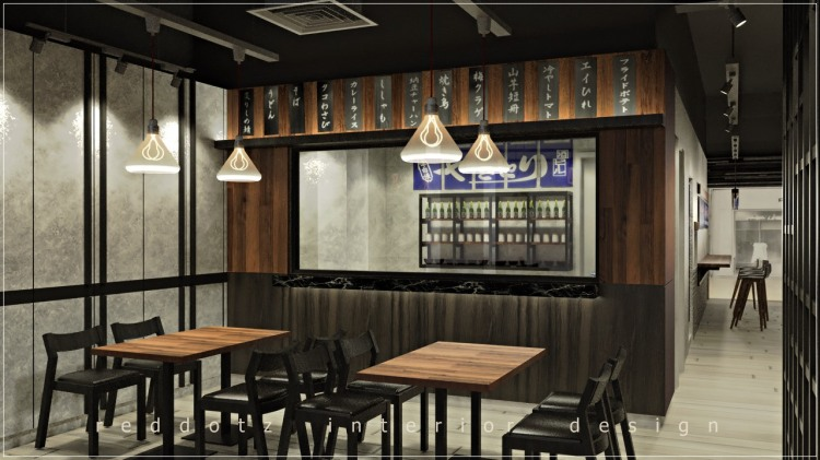 Japanese Restaurant Yakitori Bar Counter Design Malaysia