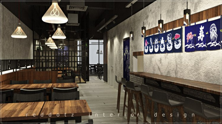 Japanese Restaurant Bar Table Design Malaysia