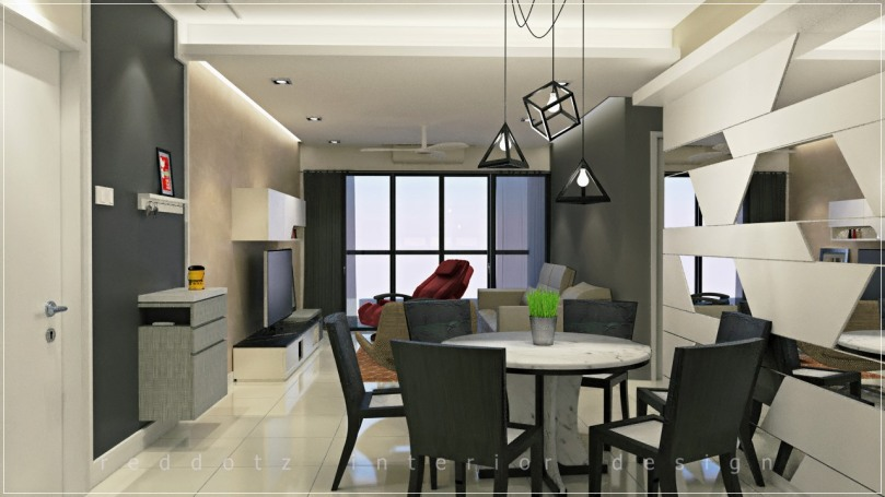 condominium dining area design puchong