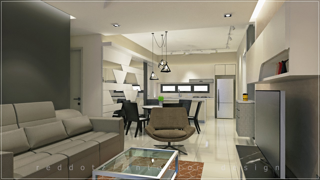 condo open kitchen design puchong