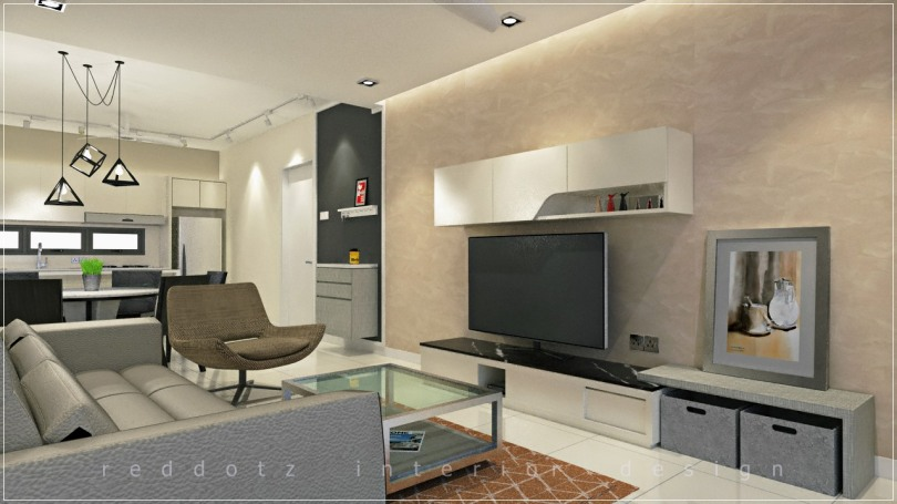 condominium living room design puchong