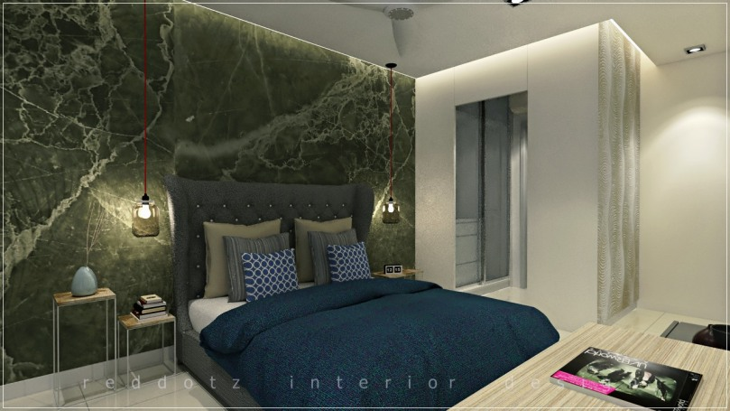 master bedroom bed head wall design puchong