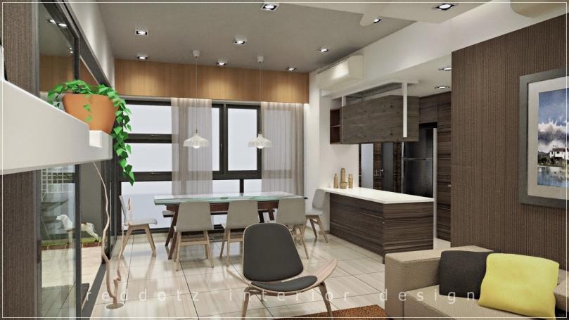 Lush Executive Condominium Dining Area Design