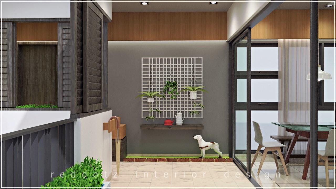Lush Executive Condominium Balcony Garden Design
