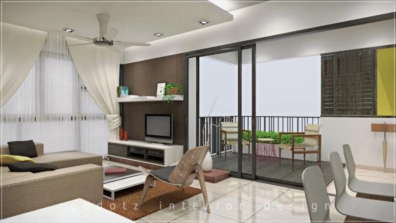 Lush Executive Condominium Living Area Design