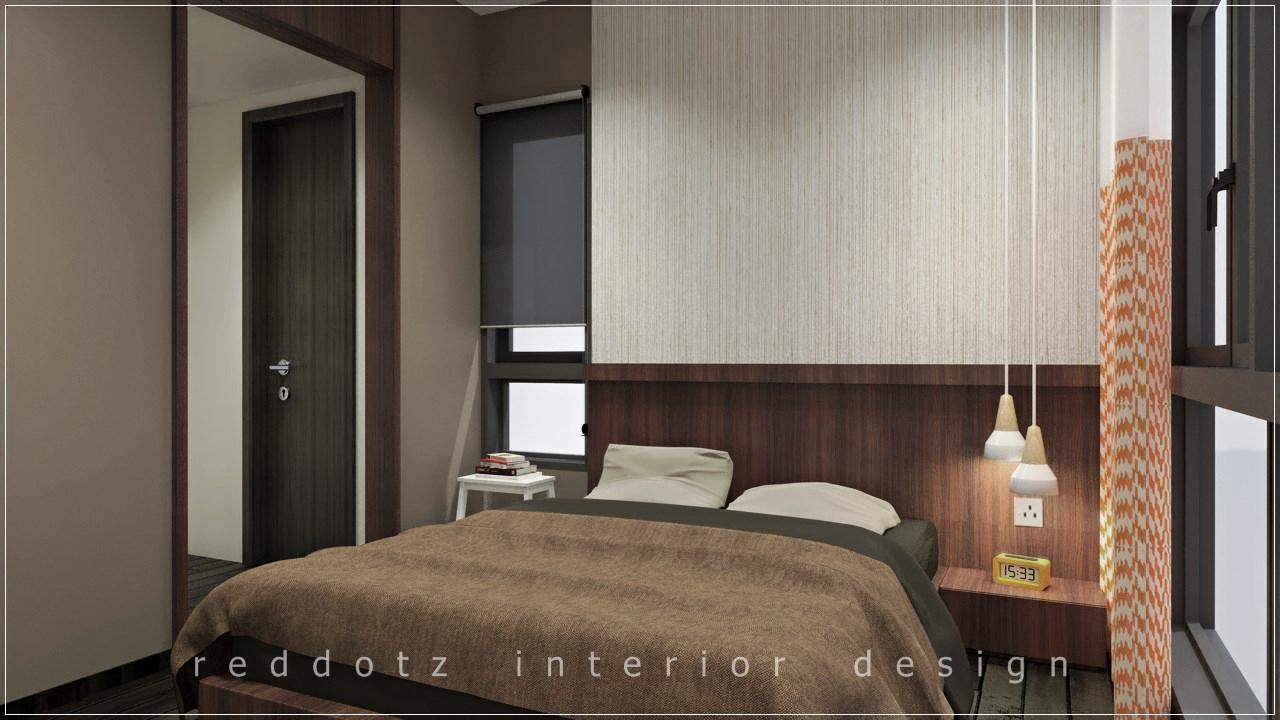 Lush Executive Condominium Master Bedroom Design