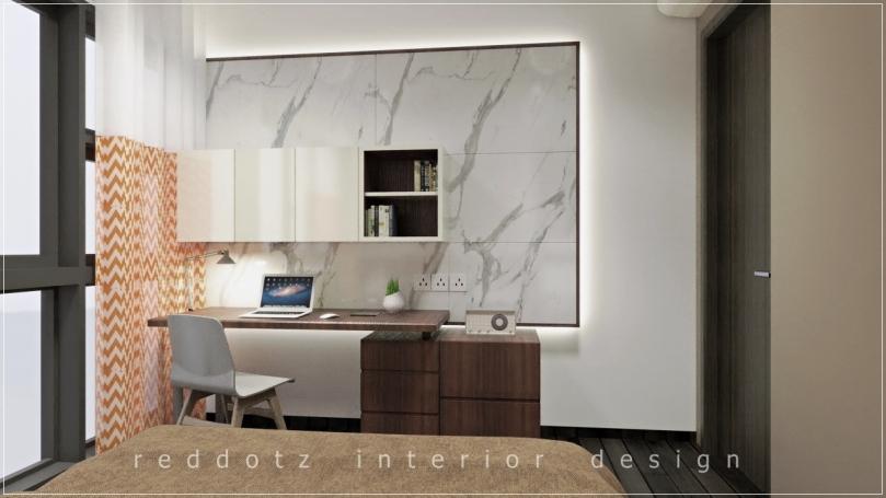 Lush Executive Condominium Master Study Area Design