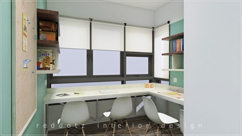 Lush Executive Condominium Study Table Design