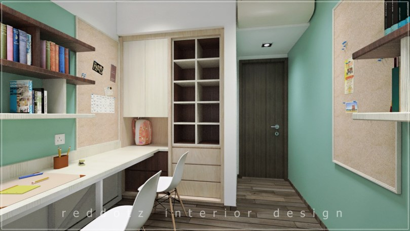 Lush Executive Condominium Study Area Design