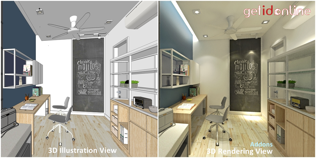 3D Illustrations View vs 3D Rendering View