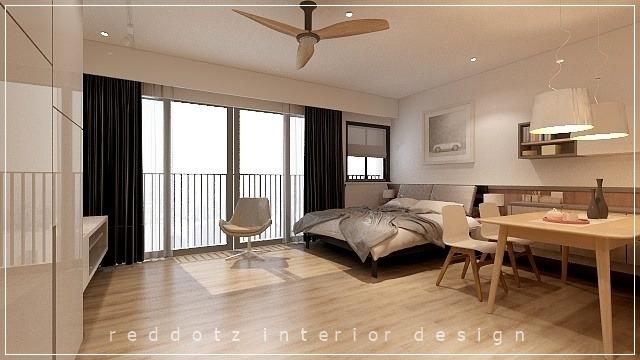 Soho home bed area design Malaysia
