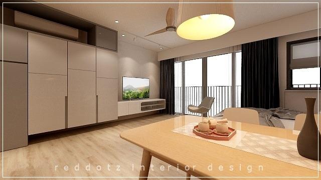 Soho home dining area design Malaysia