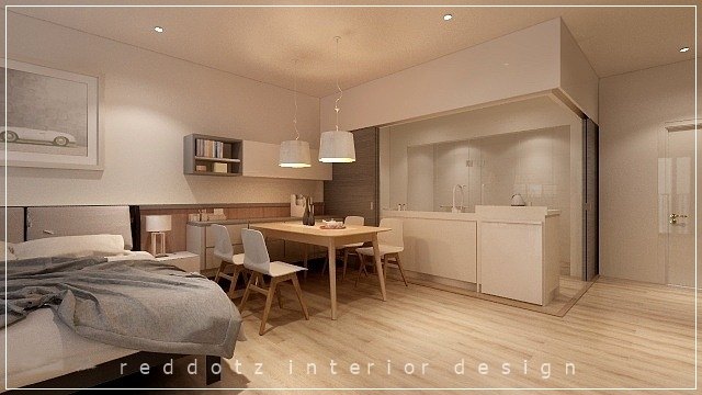 Soho home kitchen area design Malaysia