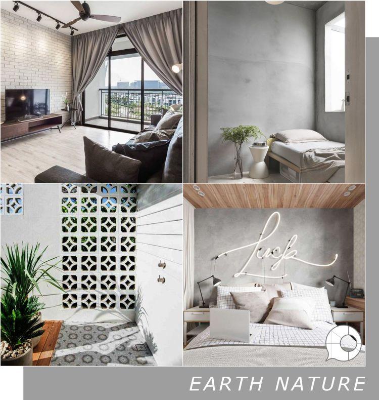 earth nature interior design theme