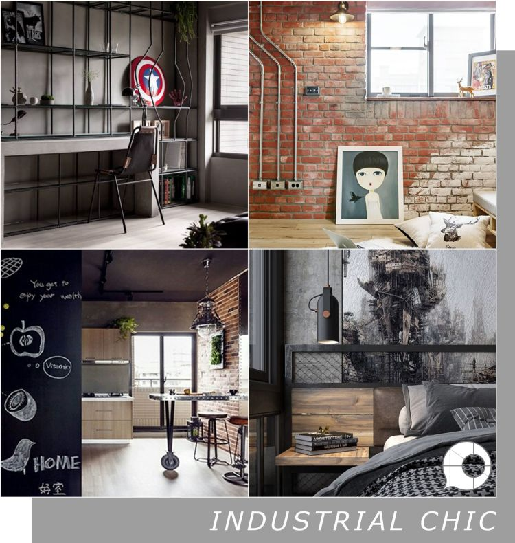 industrial chic interior design theme