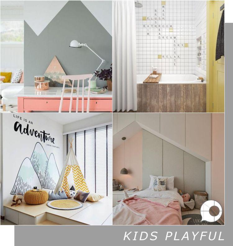kids playful interior design theme