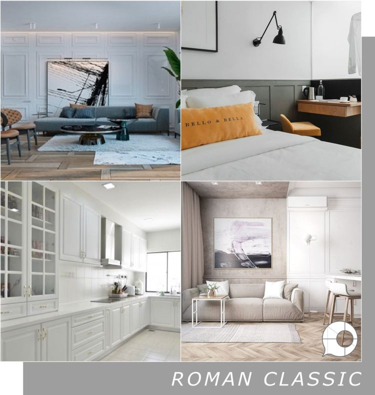 roman classic interior design theme