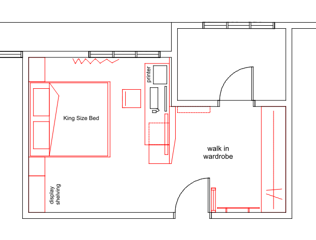19 Residence Bedroom layout plan