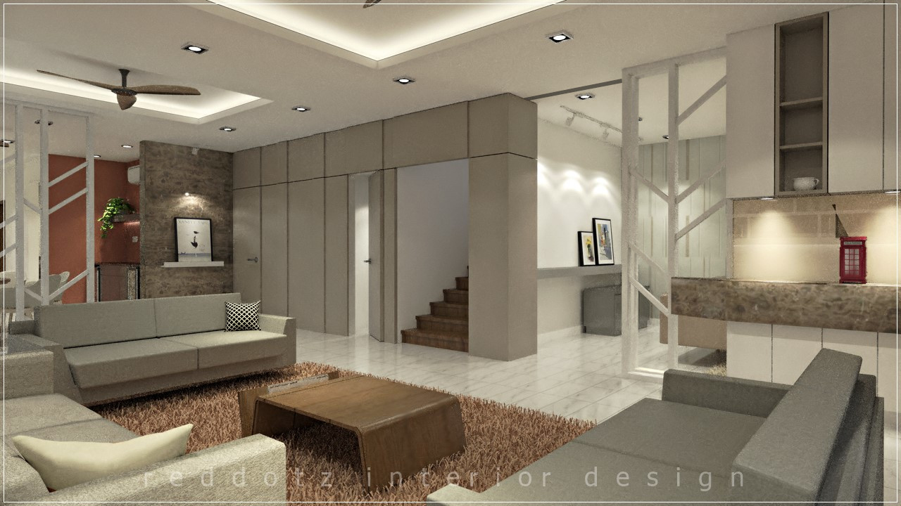 Living Foyer Design 3D Malaysia